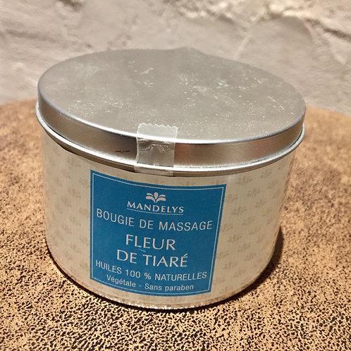 bougie de massage - fleur de Tiarè