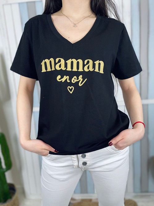 tee shirt maman en or