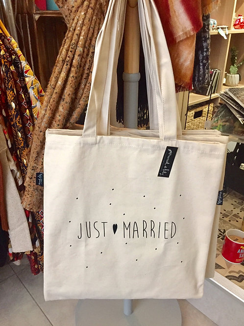 Tote bag just married
