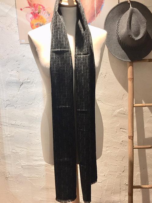 Echarpe Homme motifs gris foncé et noir