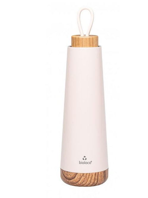 Bouteille isotherme Bioloco rose poudre