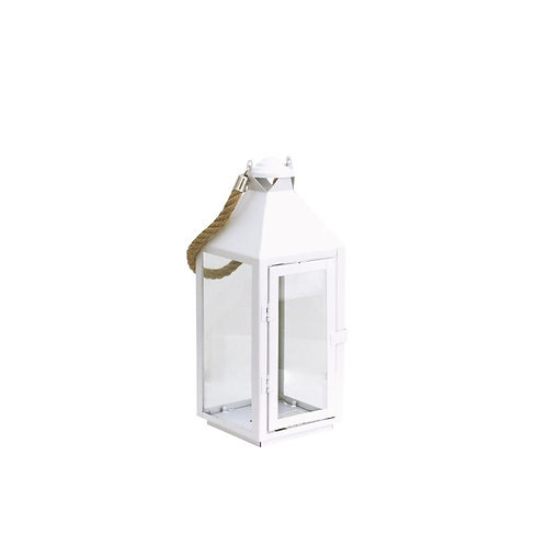 Lanterne métal et verre décorative petit modèle