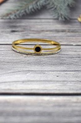 bracelet doré acier inoxydable