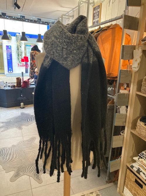 echarpes douces noir et gris