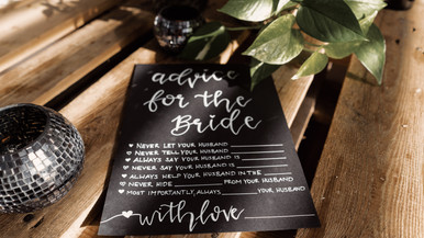 Advice for the Bride