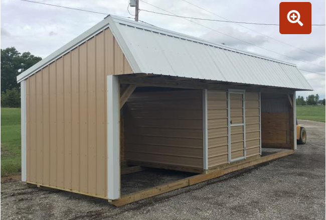 Loafing Shed w/Tack 12' x 20'