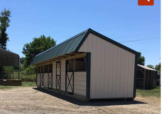 Loafing Shed w/Tack 12' x 30'