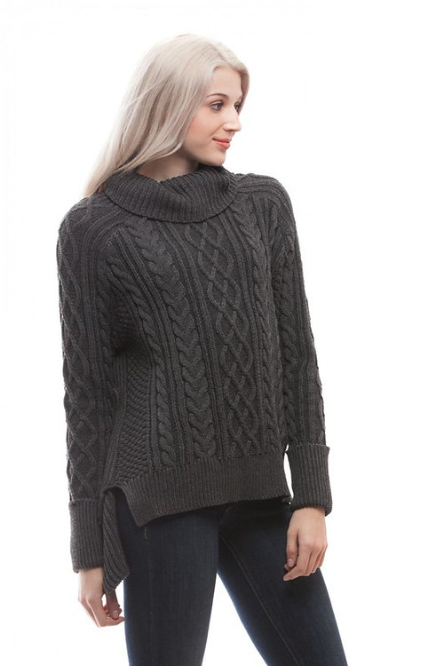 trendychikboutique | Heavy Knit Turtleneck Sweater
