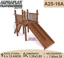 playground em tronco de eucalipto escorregador