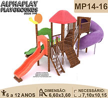 MP14-16.Playground, Playgrounds Madeira Plastico