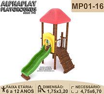 Playground de madeira grande colorido | Alphaplay