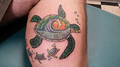 Colored Turtle Tattoo
