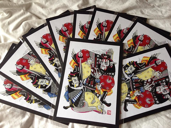samurai warrior digital print