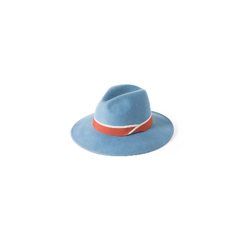 Brushed Wool Trilby with Silk Trim