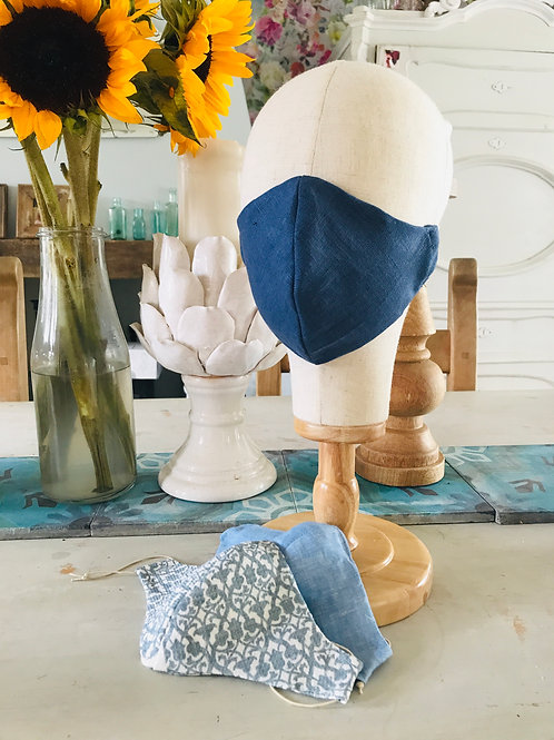 100 % Linen face coverings for all the family