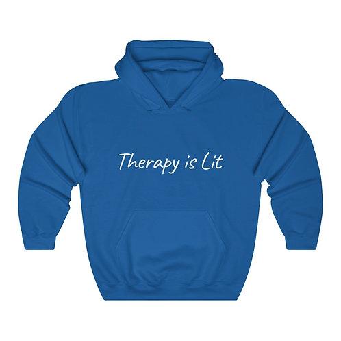 Therapy is Lit - Unisex Heavy Blend™ Hooded Sweatshirt