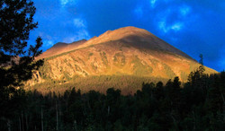 Morning Light on Red Mountain
