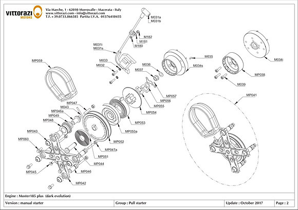 M034s - Flywheel (Selettra) with aluminum toothed pulley incorporated ◊