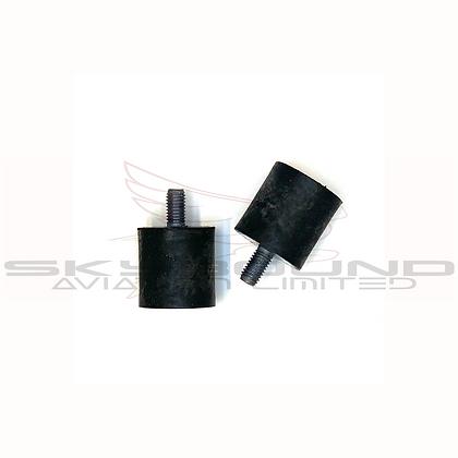 M021a - Antivibration mount 30 x 30 mm - M8 x 15 mm (Set of 2)