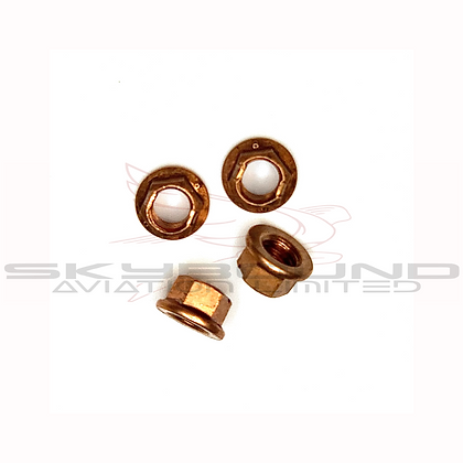 M019 - Copper lock nut high temperature 8 x 1,25 mm (Set of 4)