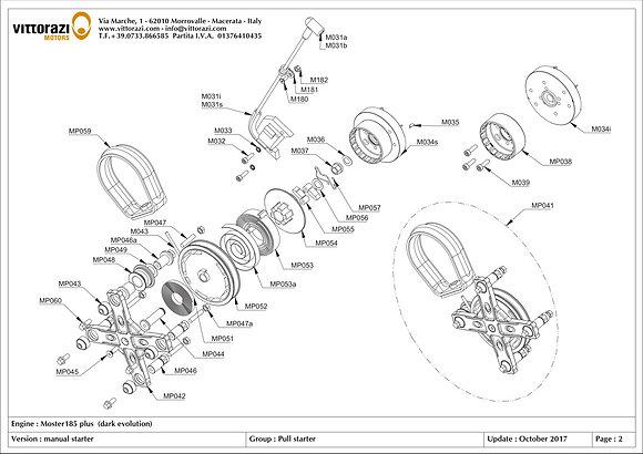 MP044 - Starter central pin (includes: MP060- MP045)