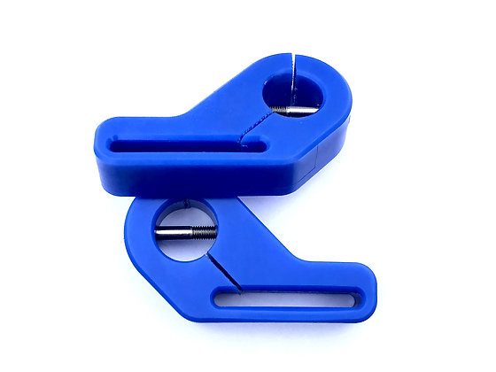 Nylon Harness Sliders Blue (Pair)