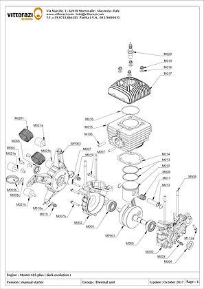 MP003 - Engine carter support, black (manual start version)(incl:M004-M006)