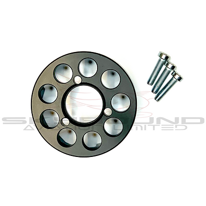 M038 - Aluminum toothed pulley, manual start version (includes: M039)