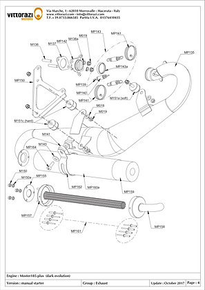 M135a - Exhaust manifold (incl:M137-M139-M139a-M019-M138a)