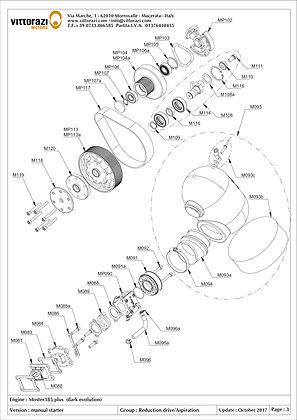 ME084 - Carburetor flange, orange (Internal pulse circuit)