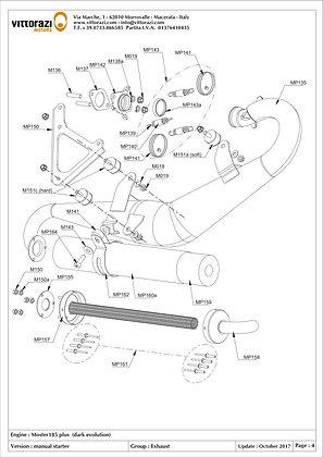 M140 - Silencer steel bracket (includes: M141)