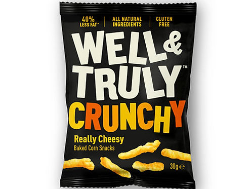 WELL & TRULY IMPULSE CRUNCHY CHEESE STICKS 30G