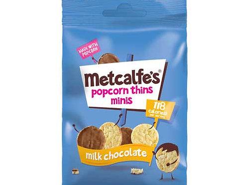METCALFE'S - MINI THINS MILK CHOCOLATE 50g
