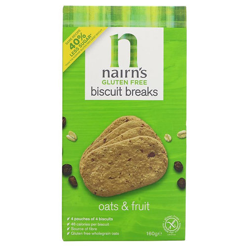 Nairn's GF Biscuit Breaks Oat & Fruit - 160g