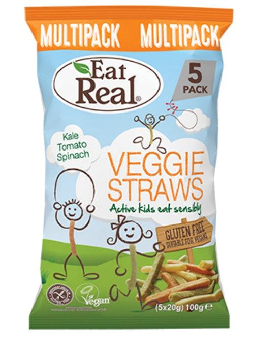 Eat Real Veggie Straws Kids Multi-Pack 5X20g
