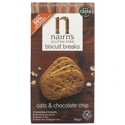 Nairn's GF Biscuit Breaks Choc Chip - 160g