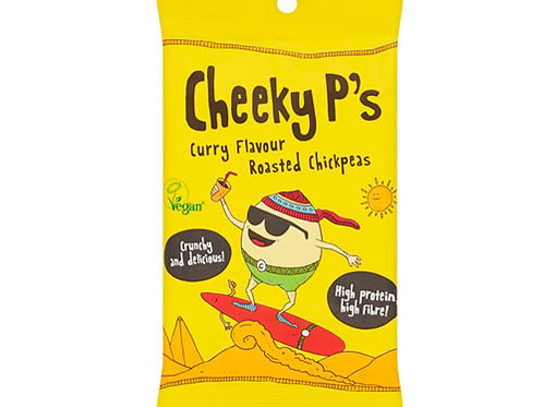 CHEEKY P'S ROASTED CHICKPEAS - CURRY 50G