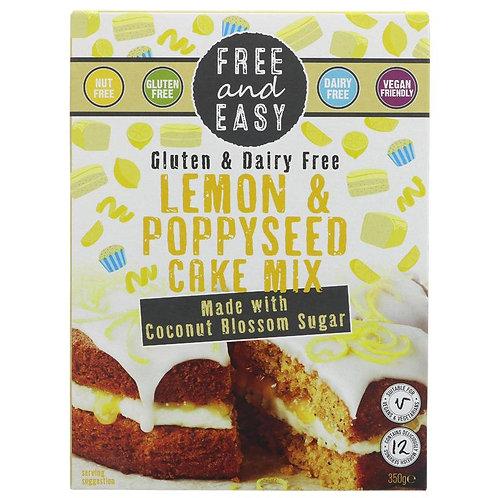 Free & Easy Lemon & Poppyseed Cake Mix 350g