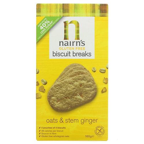 Nairn's GF Biscuit Breaks Stem Ginger - 160g