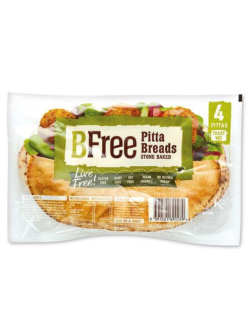Stone baked gluten free pitta breads x4