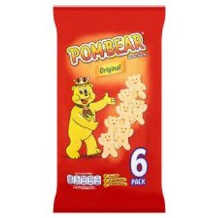 Pom Bear Original Potato Snacks 6 X 15G