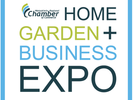 We are at the Wetaskiwin Regional Chambers of Commerce Home, Garden & Business Expo 2017