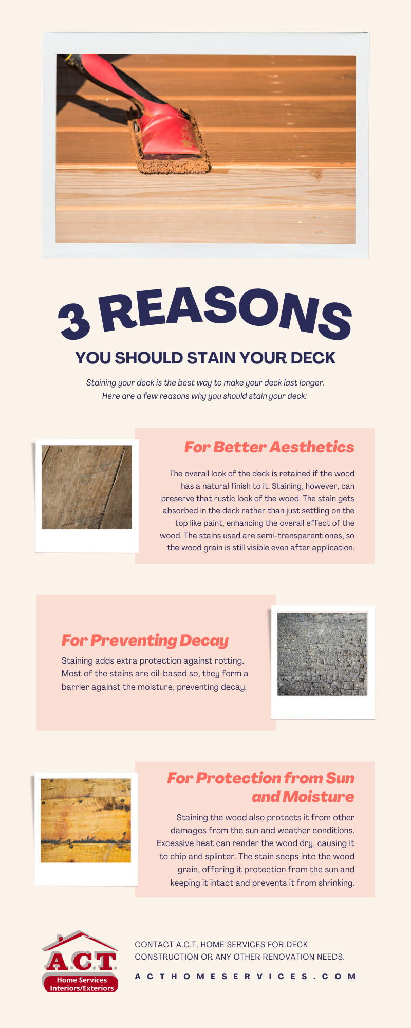 Reasons You Should Stain Your Deck