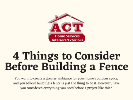 4 Things to Consider Before Building a Fence