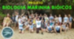 Professores e alunos do projeto Biologia Marinha Bióicos