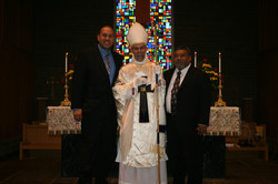 Bishop with two dear friends.