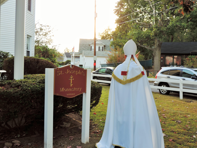 Bishop Joseph blessing...