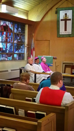 Bishops sitting in choir