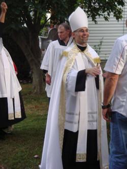 Bishop Joseph enjoying a good laugh