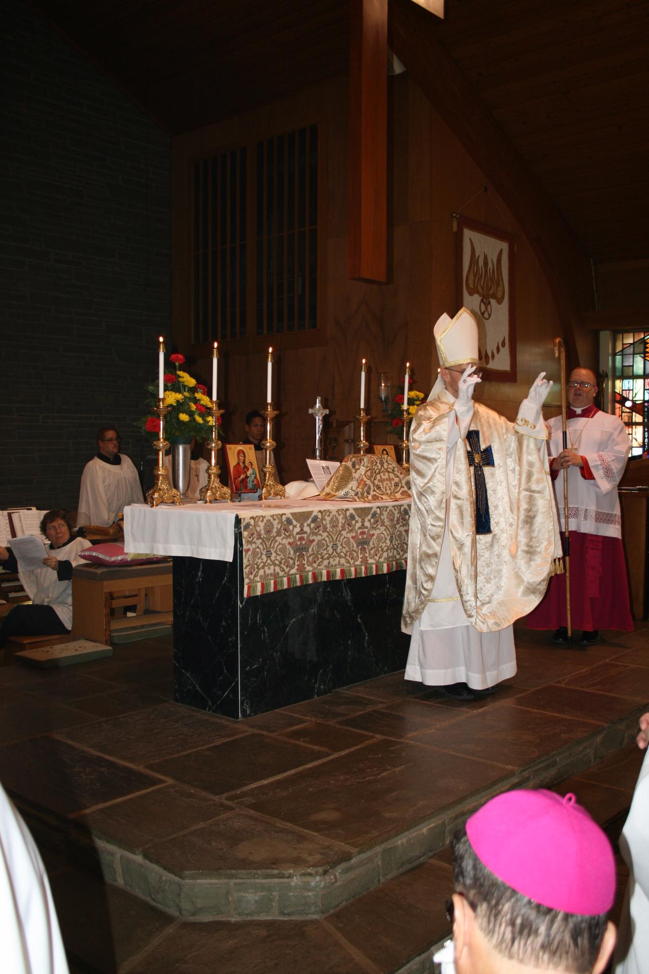 Bishop Joseph blessing